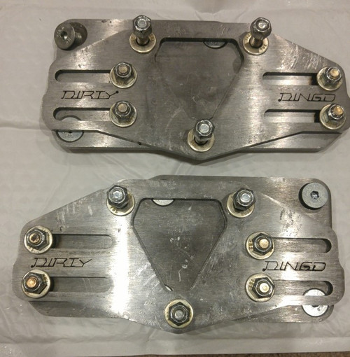Dirty Dingo Slider SBC or BBC to LS Conversion Engine Mounts, Steel