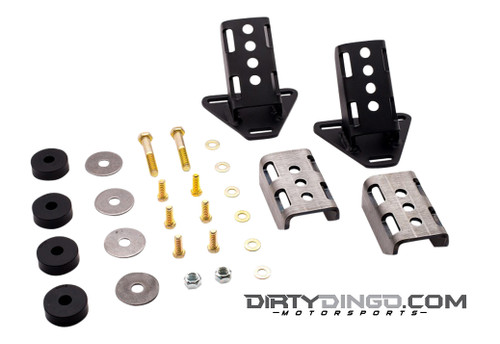 Dirty Dingo GM 3 Bolt Street Rod Engine Mounts, Black
