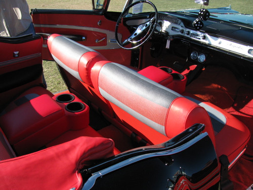 Universal Bench Seat Console - Cruiser, Fiesta Red