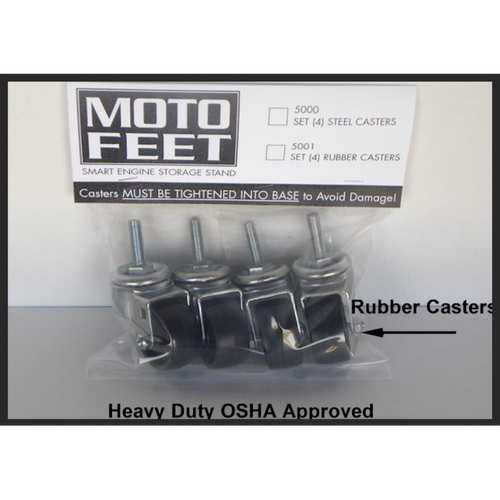 MOTOFEET Engine Stand Rubber Casters