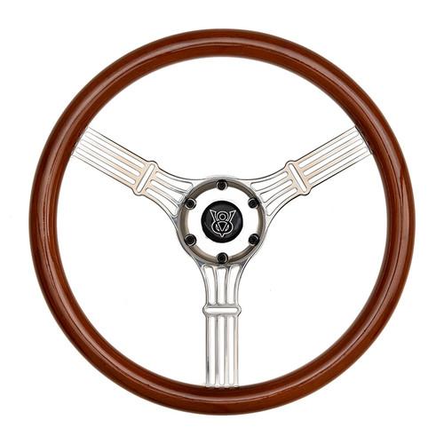 GT Performance GT3 Retro Gasser Banjo Style Wheel, Wood