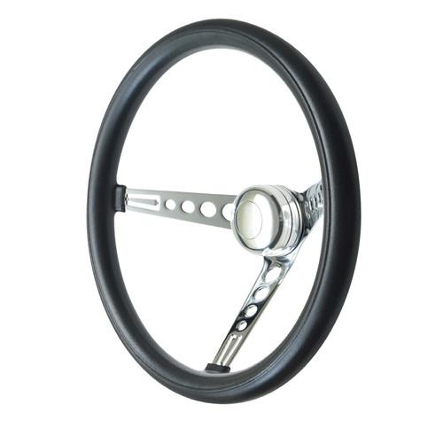 GT Performance GT3 Classic Mustang Style Foam Wheel, Black w/ Chrome Spokes
