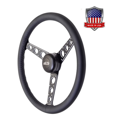 GT Performance GT3 Pro-Touring Autocross II Wheel, Black Leather