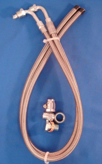 Braided Hose Kit 1979 & Earlier GM Gearbox to GM Pump