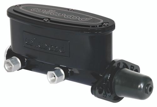 "Wilwood 1"" Aluminum Tandem Master Cylinder, Black"