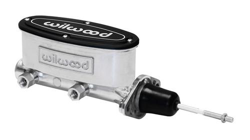 """Wilwood 15/16"""" Aluminum Tandem Master Cylinder w/ Pushrod, Ball Burnished"""