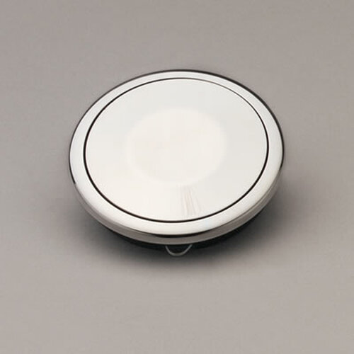 Lecarra Horn Button, Aluminum Covered
