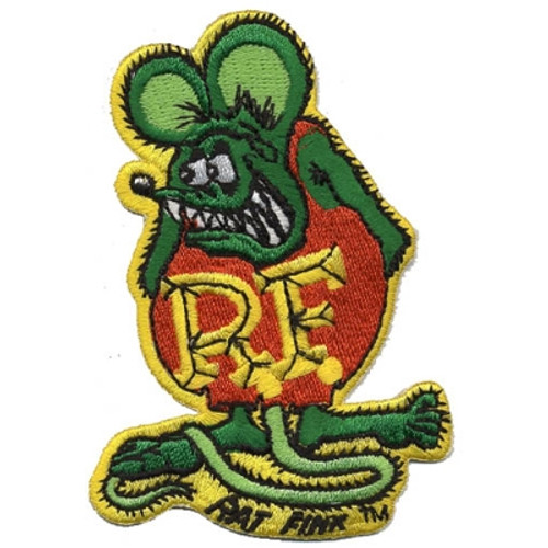 "Mooneyes Rat Fink 3-3/4"" Patch, Green"