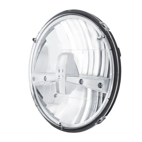 "United Pacific 5 High Power LED 7"" Dual Function Headlight, Chrome"