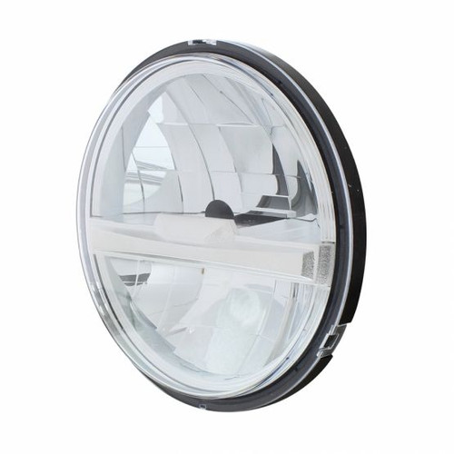 """United Pacific 8 High Power LED 5 3/4"""" Headlight, Silver"""