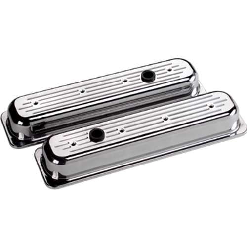 Billet Specialties Valve Covers - Center Bolt Chevrolet - Ball Milled - Short