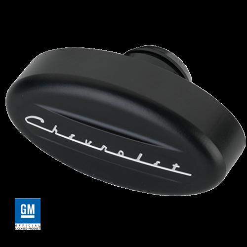 Billet Specialties Breather - Retro Chevrolet Script, Black