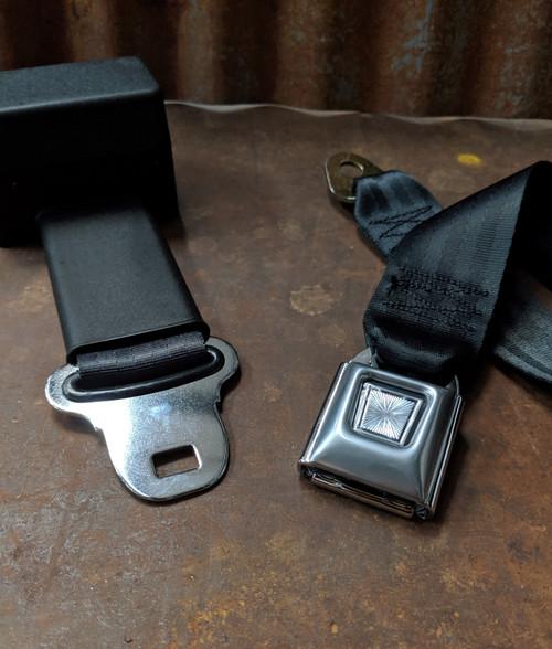 Seatbelt Solutions 2-Point Retractable Lap Belt w/ Starburst Push Button