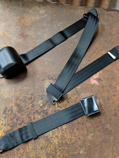 Seatbelt Solutions 3-Point Retractable Lap & Shoulder Belt w/ Lift Latch