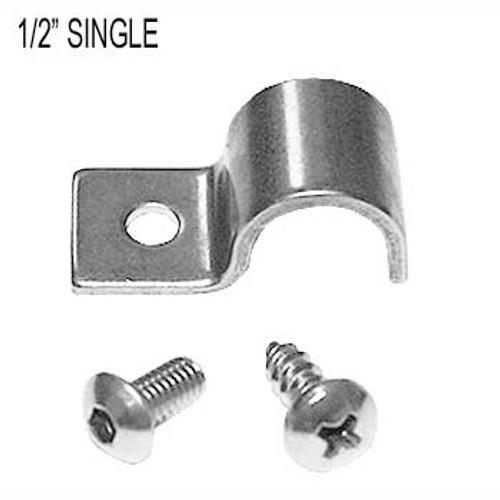 "Kugel Komponents 1/2"" Single Line Clamps, 12 Pack"