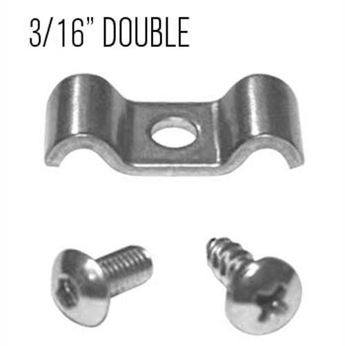 "Kugel Komponents 3/16"" X 3/16"" Double Line Clamps, 6 Pack"