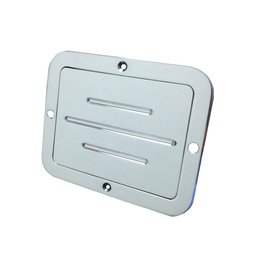 All American Billet Ball Milled Gas Door, Polished (AAB-DGS-P)