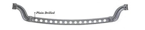 """SO-CAL Speed Shop Forged I-Beam 47"""" Front Axle, Plain, Drilled"""