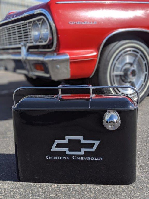 Vintage Chevrolet Beverage Cooler, Black