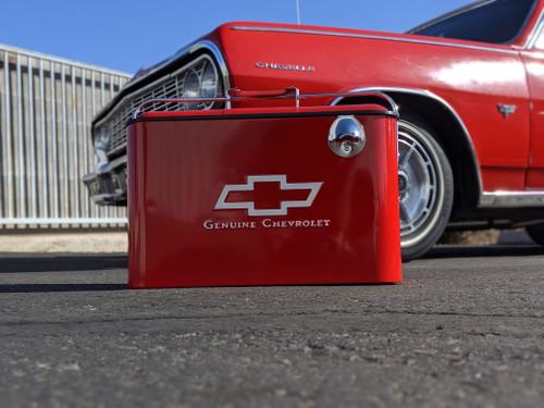 Vintage Chevrolet Beverage Cooler, Red