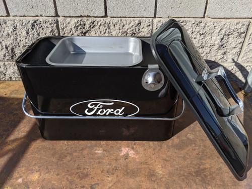 Vintage Ford Beverage Cooler, Black