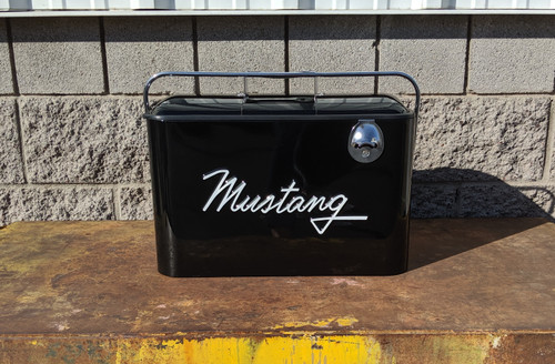 Vintage Mustang Beverage Cooler, Black