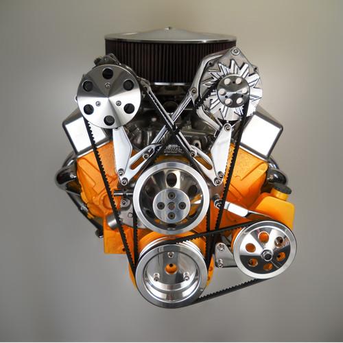 Bill's Hot Rod Co. 200 Series Alternator & A/C Compressor Bracket, Pair (BIL-200-PAIR)