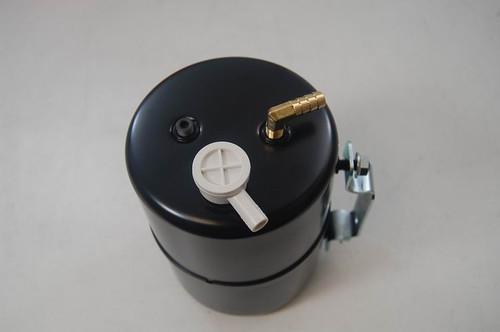 RPC Steel Vacuum System Reservoir Tank, Black