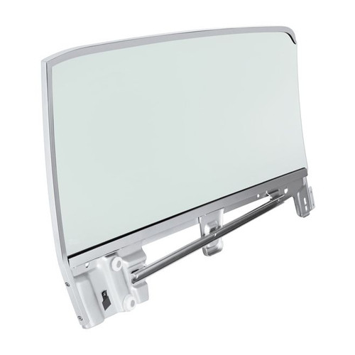 United Pacific Complete Tinted Door Glass Assembly For 1967-68 Mustang Convertible - L/H