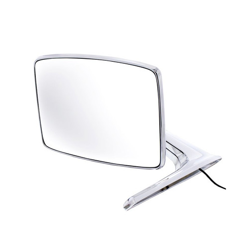 United Pacific  Chrome Exterior Mirror w/LED Turn Signal For 1966-77 Ford Bronco & 1967-79 Truck, L/H