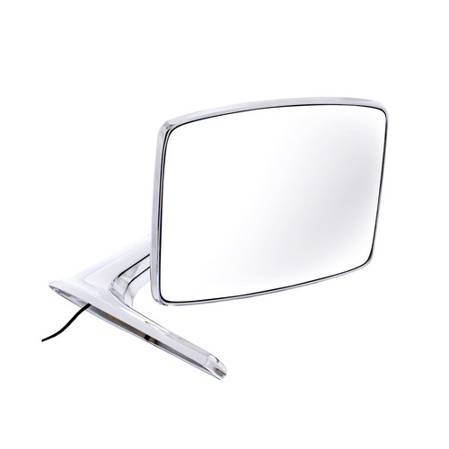 United Pacific  Chrome Exterior Mirror w/Convex Glass & LED For 1966-77 Bronco & 1967-79 Truck, R/H