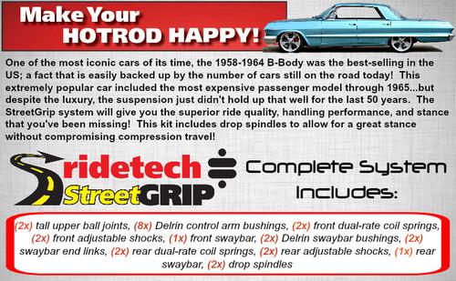 "Ridetech StreetGrip Suspension System for 1958-1964 GM ""B"" Body (RID-11055010)"