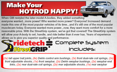 """Ridetech StreetGrip Suspension System for 1968-1972 GM """"A"""" Body (RID-11245010)"""