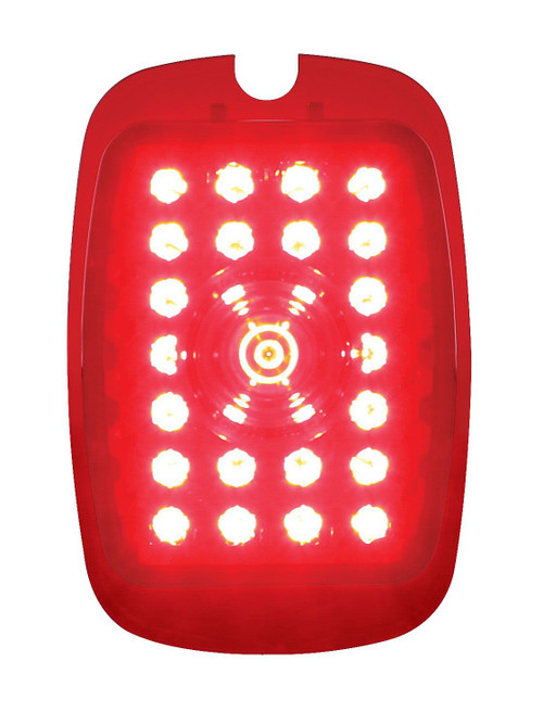 United Pacific  27 LED Tail Light Lens For 1937-38 Chevy Passenger Car & 1940-53 Truck - L/H