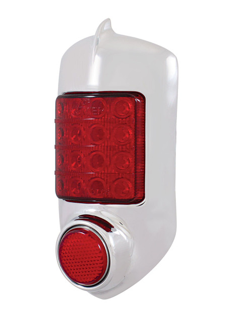 United Pacific  16 LED Tail Light w/Chrome Housing For 1951-52 Chevy Passenger Car