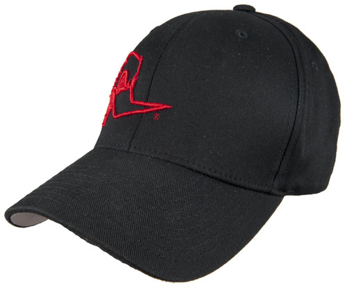 Clay Smith Cams Mr. Horsepower Red Outline FlexFit Black Hat - S/M