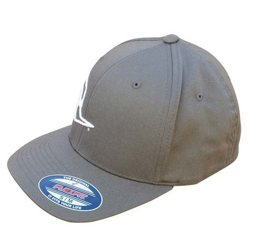 Clay Smith Cams Mr. Horsepower Silver Outline FlexFit Gray Hat - L/XL
