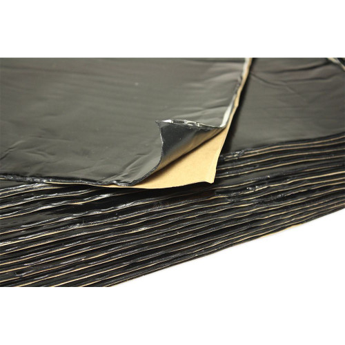 HushMat 39 Sq Ft Ultra Sound Deadening & Thermal Insulation Floor & Firewall Kit - Black Foil (HUS-10400)
