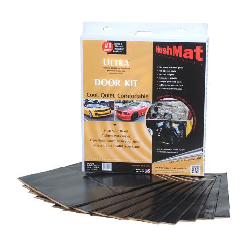 HushMat 10 Sq Ft Ultra Sound Deadening & Thermal Insulation Door Kit - Black Foil (HUS-10200)