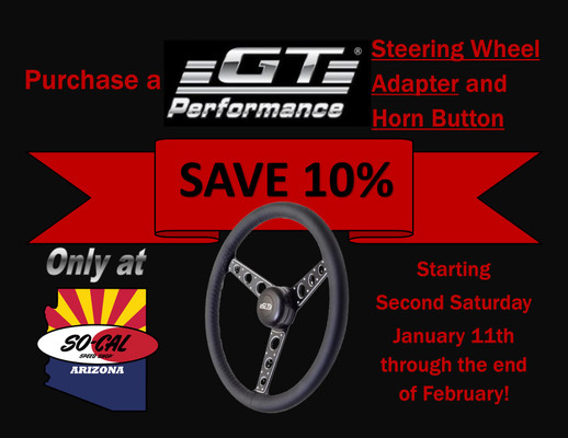 SAVE 10% on a GT Performance Steering Wheel Kit!