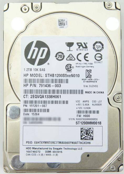 HP 1.2TB SAS Hard Drive