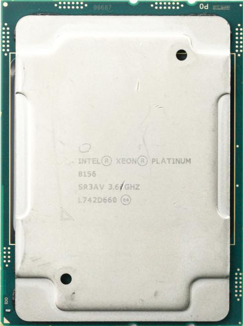Intel Xeon Platinum 8156 SR3AV 8156 C Grade Front View
