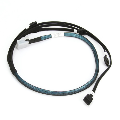 Amphenol Breakout Cable SAS to 4x SATA  RMS36-3431 Entire Cable View