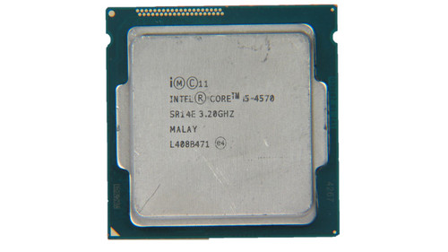 Intel Processor i5-4570K 4 Core CPU SR14E B Grade Front View