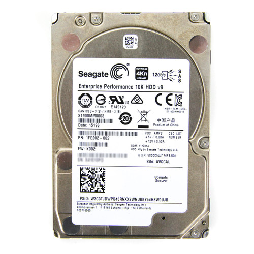 Seagate Hard drive 900GB HDD ST900MM0008 Used Front View