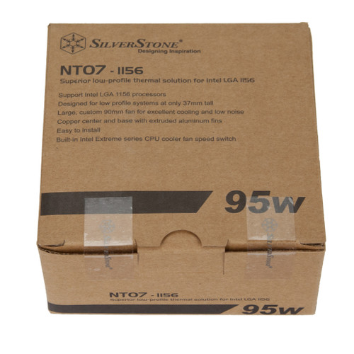 SilverStone NT07-1156 Super Slim Profile CPU cooler, LGA1150/1151/1155/1156