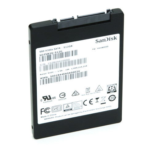 SanDisk SD7SB2Q-512G 512GB, X300s, 6Gb/s SATA SSD