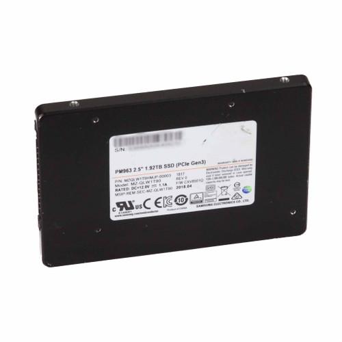 1.92TB PM963 Series PCIe 3.0 x4 NVMe U.2 Samsung MZ-QLW1T90 MZQLW1T9HMJ SFF-8639