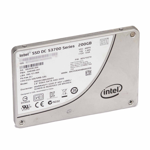 """Intel SSDSC2BA200G3 SSD DC S3700 Series 200GB, 2.5"""" SATA 6Gb/s"""
