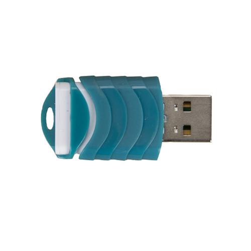 Lexar JumpDrive 64GB Teal Push USB 2.0 Flash Memory Drive PC Storage